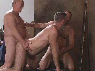 3 mature dads have pleasure
