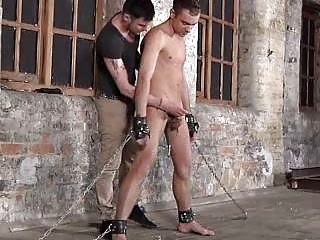 Guys Balls In Chain Gives Oral-stimulation Service