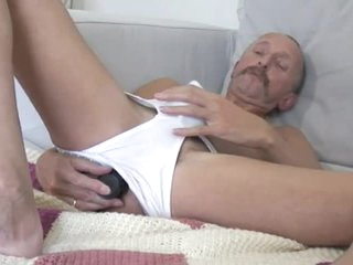 Vibrator Dad Jerking Off