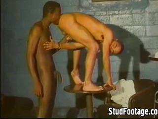 Sexy interracial homosexual sex action