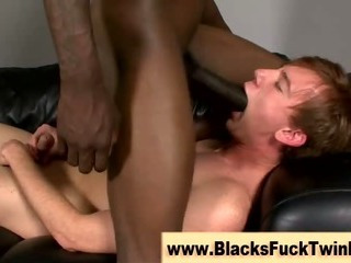 Constricted white twink receives it priceless and proper from dark homosexual amateur