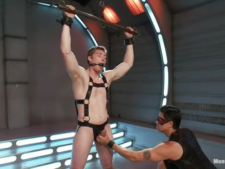 Juvenile homosexual dude is bound up and getting his jock played by a cock pump. The dominating dude likewise giving him a tugjob but this stud is not letting him to cum. And helpless dude can not tolerate this anymore. This dude crave this stud could screech but the dude likewise gagged his mouth! Let's see what awaits for him!