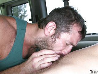 This naive idiot desires a wet crack and a worthy large couple of tits. Instead that guy receives a rock hard ramrod and bulging pecs. He thinks a blond milf is going to engulf his dick, but he's blindfolded and the switch is made. He ends up having his 1st homo experience. He's tricked into being a fag.