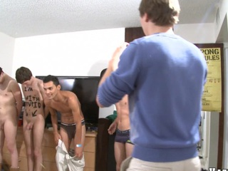 2 cute dudes decided to show their bodies in front their friends!