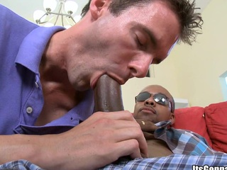 His naughty throat has some playful tongue! That stud is satisfied!