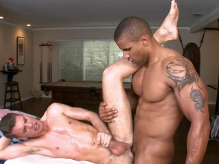 Hawt homosexual guy is being spooned wildly during sexy massage