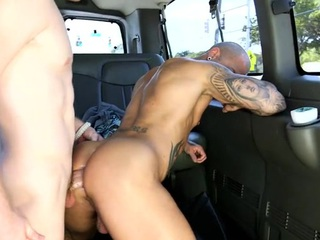 Wild anal drillings with attractive and youthful gay studs
