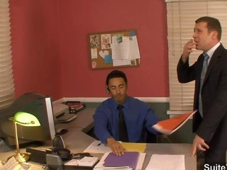 Fantastic homosexual fucking booties in the office